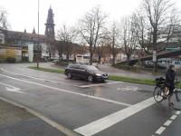 Große Fahrradschleuse in Freiburg