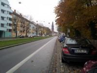 Sehr vorbildlicher Radfahrstreifen in Freiburg