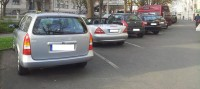Der Parkpl... äh pardon Radweg