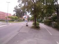 Baustelle am KV Spanier-/Reichenaustr.