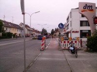 Die Baustelle in der Wollmatingerstraße