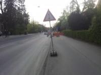Zeichen 131 muss ebenfalls auf dem Radweg platziert werden